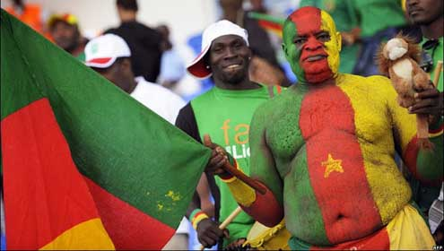 Supporters Welcome The Indomitable Lions Upon Arrival In Gabon